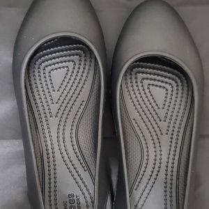 Crocs Laura Black Flats 8
